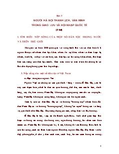 Bài 3: Người Hà Nội thanh lịch, văn minh trong giao lưu và hội nhập quốc tế