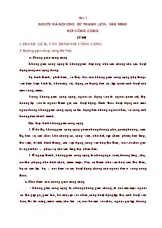 Bài 1 - Người Hà Nội ứng xử thanh lịch, văn minh nơi công cộng (2 tiết)