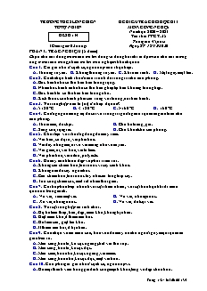Đề thi học kì I Công nghệ Lớp 6 - Mã đề 134 - Năm học 2020-2021 - Trường THCS Long Biên