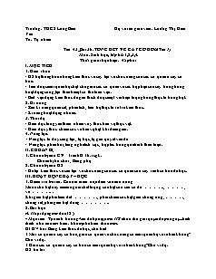 Giáo án Sinh học Lớp 6 - Bài 36: Tổng kết về cây có hoa (Tiết 1) - Năm học 2020-2021 - Lương Thị Kim Yến