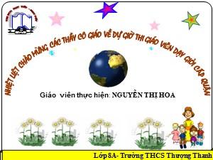 Bài giảng Đại số Lớp 8 - Tiết 62: Bất phương trình bậc nhất một ẩn (Tiếp theo) - Nguyễn Thị Hoa