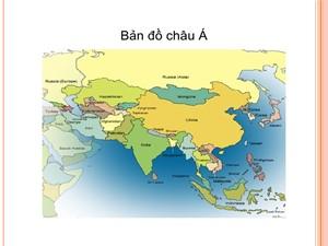 Bài giảng Địa lí Lớp 9 - Bài 4: Các nước Châu Á - Năm học 2017-2018