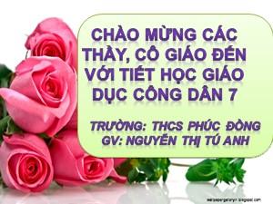 Bài giảng Giáo dục công dân Lớp 7 - Bài 11: Tự tin - Nguyễn Thị Tú Anh