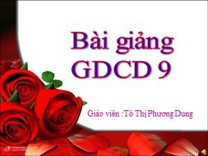 Bài giảng Giáo dục công dân Lớp 9 - Bài 4: Bảo vệ hòa bình - Năm học 2017-2018 - Tô Thị Phương Dung