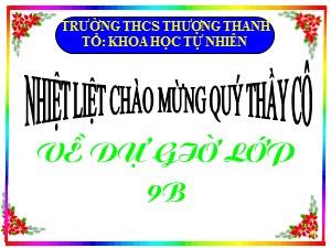 Bài giảng Hình học Lớp 9 - Tiết 6: Tỉ số lượng giác của góc nhọn (Tiếp theo) - Trường THCS Thượng Thanh