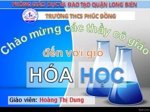 Bài giảng Hóa học Lớp 8 - Tiết 29: Tỉ khối của chất khí - Hoàng Thị Dung
