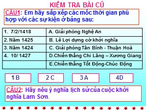 Bài giảng Lịch sử Lớp 7 - Bài 20: Nước Đại Việt thời Lê sơ (1428-1527) - Năm học 2017-2018