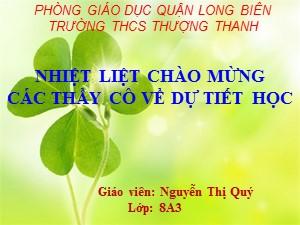 Bài giảng Sinh học Lớp 8 - Tiết 25: Tiêu hóa ở khoang miệng - Nguyễn Thị Quý
