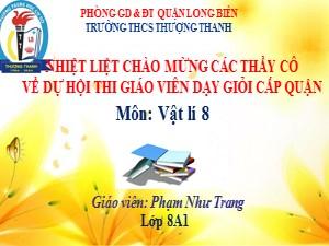 Bài giảng Vật lí Lớp 8 - Bài 6: Cơ năng - Năm học 2020-2021 - Phạm Như Trang