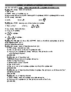 Đề cương ôn tập Toán 9 - Bài tập chủ đề 5: Phương trình bậc hai một ẩn- Hệ thức Vi-ét và ứng dụng