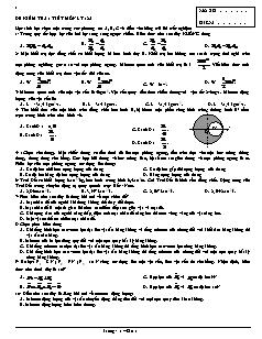 Đề kiểm tra 1 tiết môn Lý 12