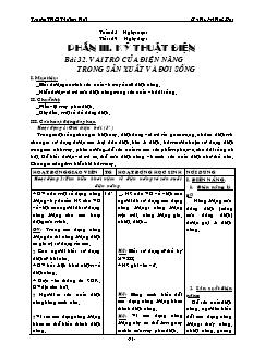 Giáo án Công nghệ 8 - Bài 32 đến 35 - Gv: Huỳnh Hữu Đạt - Trường THCS Thới An Hội