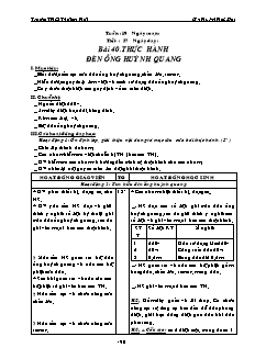 Giáo án Công nghệ 8 - Bài 40 đến 42 - Gv: Huỳnh Hữu Đạt - Trường THCS Thới An Hội