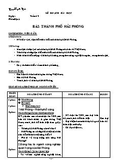 Giáo án Địa lí 4 - Tuần 19 đến 25 - GV Nguyễn Tuyết Mai
