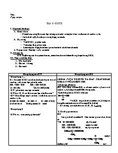 Giáo án Hóa học 12 - Bài 1 đến 18
