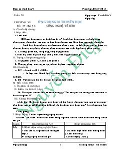 Giáo án Sinh học 9 - Học kì 2 - Trường THCS Trà Thanh