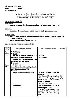 Giáo án Tập làm văn 4 - Tuần 19 đến 25