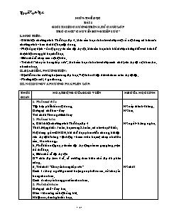 Giáo án Thể dục 4 - Cả năm - GV Nguyễn Tuyết Mai