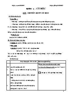 Giáo án Vật lý lớp 8 - Full