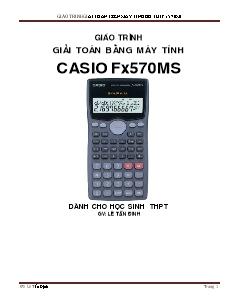 Giáo trình Giải toán bằng máy tính Casio fx570ms