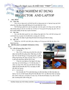 Kinh nghiệm sử dụng projector and laptop