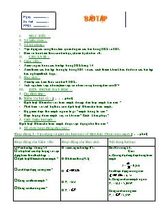 Giáo án Bài tập Vật lý 11 nâng cao - Tiết 17