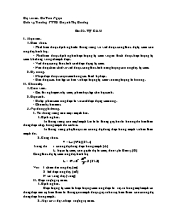 Giáo án Vật lý 11 - Bài 25: Tự cảm - Trường PTTH Huỳnh Thị Hưởng