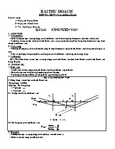 Giáo án Vật lý 11 - Bài 34 - Kính thiên văn