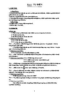 Giáo án Vật lý 11 NC - Bài 6 - Tụ điện