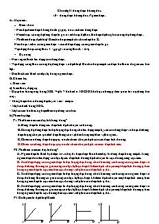 Giáo án Vật lý 11 NC - Chương II - Dòng điện không đổi