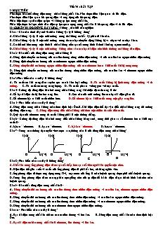 Giáo án Vật lý 11 - Tiết 35 - Bài tập