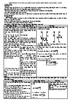 Giáo án Vật lý 11 - Tiết 49 - Tương tác giữa hai dòng điện thẳng song song. Định nghĩa Am-pe