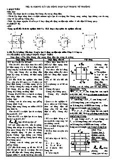 Giáo án Vật lý 11 - Tiết 52 - Khung dây có dòng điện đặt trong từ trường