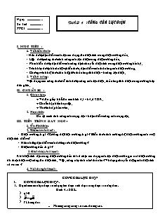 Giáo án Vật lý lớp 11 - Bài 4 - Công của lực điện