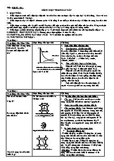 Giáo án Vật lý lớp 11 - Bài 43, 44: Dòng điện trong bán dẫn