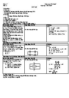 Giáo án Vật lý lớp 11 - Tiết 35 - Bài tập