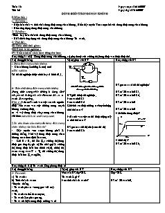Giáo án Vật lý nâng cao 11 - Tiết 32 - Dòng điện trong chân không