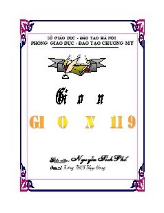 Mẫu bìa giáo án Toán lớp 9