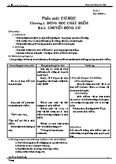Giáo án Vật Lý 10 - CB - Trường cấp 2+ 3 Tân Quang