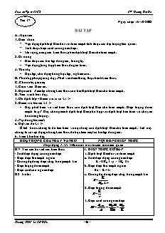 Giáo án Vật lý 11 CB - GV: Hoàng Hải Hà - Tiết 17 - Bài tập