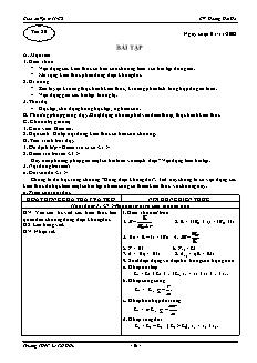 Giáo án Vật lý 11 CB - GV: Hoàng Hải Hà - Tiết 21 - Bài tập