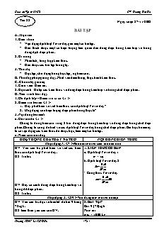 Giáo án Vật lý 11 CB - GV: Hoàng Hải Hà - Tiết 28 - Bài tập