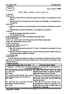 Giáo án Vật lý 11 CB - GV: Hoàng Hải Hà - Tiết 30 - Dòng điện trong chất khí (t2)