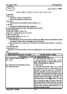 Giáo án Vật lý 11 CB - GV: Hoàng Hải Hà - Tiết 33 - Dòng điện trong chất bán dẫn (t2)