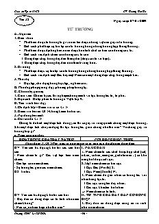 Giáo án Vật lý 11 CB - GV: Hoàng Hải Hà - Tiết 38 - Từ trường