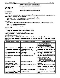 Giáo án Vật lý 11 CB - Học kì 1 - Trường THPT Ngô Quyền