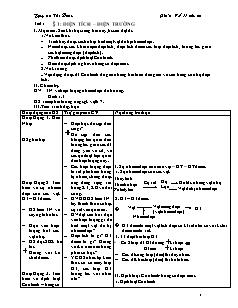 Giáo án Vật lý 11 chuẩn - Chương 1, 2 - Nguyễn Thị Diệu
