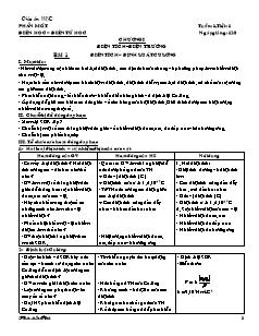 Giáo án Vật lý 11 nâng cao - Học kì 1 - Phan Xuân Huệ