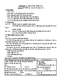 Giáo án Vật lí 11 - Tiết 44 - Từ thông. Cảm ứng điện từ