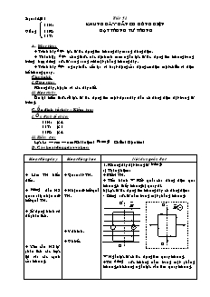 Giáo án Vật lí 11 - Tiết 51 - Khung dây dẫn có dòng điện đặt trong từ trường